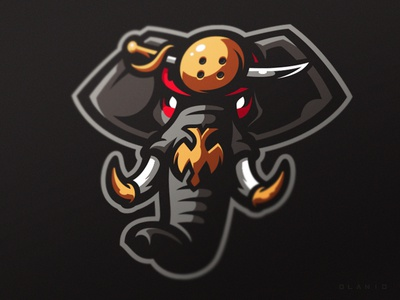 Mysore dasara elephant sport sports mysore dasara india mammoth mascot logotype logo identity branding elephant