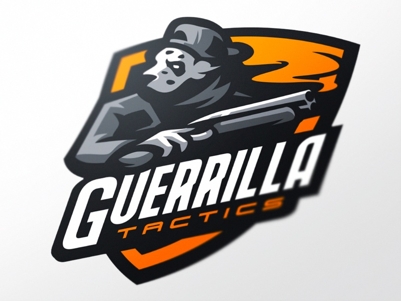 Guerrilla branding esports game identity logo logotype mascot sports team gangster dog sport