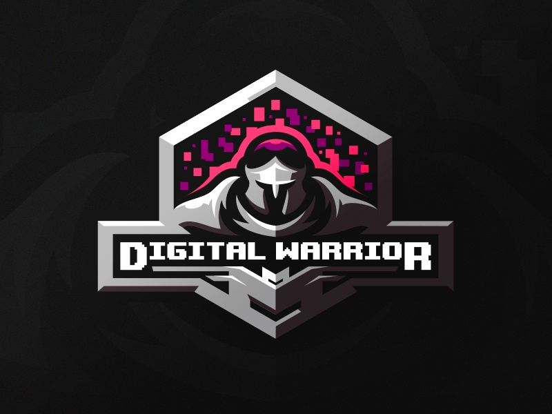 Digital Warrior team sports sport mascot logotype logo identity knight soldier esports warrior branding