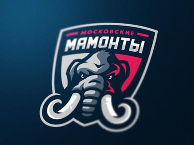 Moscow Mammoths - hockey team team sports sport mascot logotype logo identity elephant game esports mammoth branding