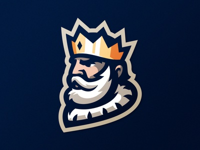 King branding monarch identity crown logo logotype king queen mascot xbox sport sports