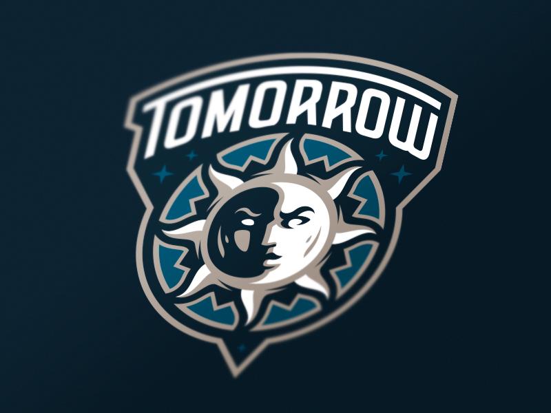 Tomorrow sports sport mascot day star logotype logo night identity sun branding