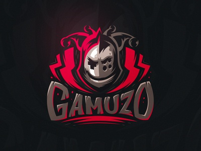 Gamuzo vector character helmet identity evil horror warrior gamepad clown logo
