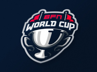BFN - World Cup battlefield trophy contest sports logotype logo identity branding competition cup bfn
