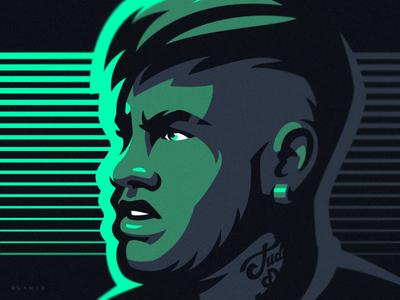 Neymar sports sport dlanid soccer world cup fifa sketch illustration football neymar brazil psg