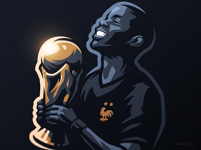 Pogba logo sports sport dlanid soccer world cup fifa sketch illustration football pogba france