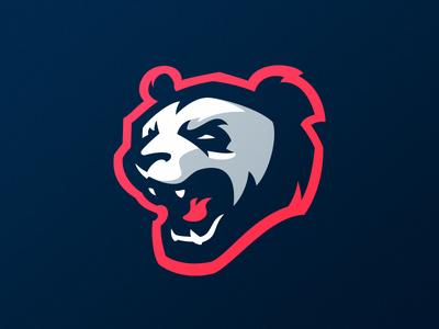 Panda! beast hiwow bear panda mascot logo design identity dlanid