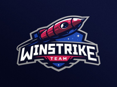Winstrike team logo stellar rocket space hiwow gaming illustration design esports dlanid sport logotype identity mascot sports logo