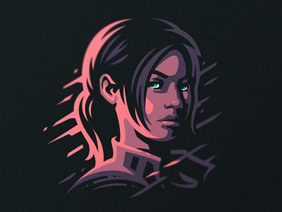 Claire   Resident Evil 2 modern game design gaming identity mascot horror girl logo vector claire resident evil illustration dlanid branding