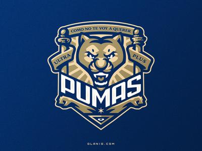 Pumas logo mark mark icon badgedesign badge sports logo puma tiger cat fifa soccer football illustration dlanid logotype branding identity mascot sports logo