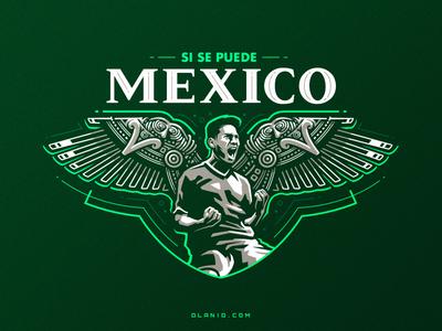 FC Mexico logo mark mark badge logo badges sports logo world cup fifa maya mexico soccer football illustration sport dlanid logotype identity mascot sports logo