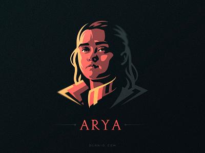 Arya artwork fanart branding show game of thrones hiwow vector stark arya stark arya got design illustration dlanid logo