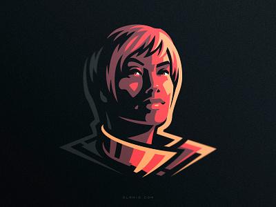 Cersei Lannister art artwork fanart queen logotype branding game of thrones got lannister cersei hiwow vector illustration dlanid logo