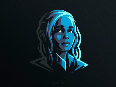 Dany artwork fanart mother of dragons girl got game of thrones hiwow vector art design illustration logo dlanid daenerys targaryen daenerys