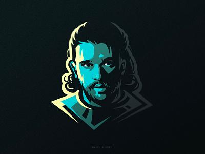Jon branding identity art artwork fanart hiwow game of thrones got jon snow jon vector illustration dlanid logotype logo