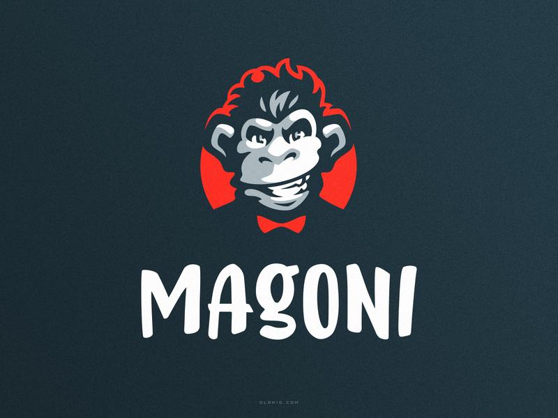 Magoni logo mark chimp gorilla monkey animal ape esports logo esport logo esportlogo sport logo sports logo esport esports sport sports mascot mark branding logotype logo