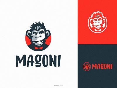 Magoni chimp logodesign logo mark mark design esportlogo sports logo chimp gorila ape hiwow esports sport illustration dlanid logotype identity branding mascot sports logo