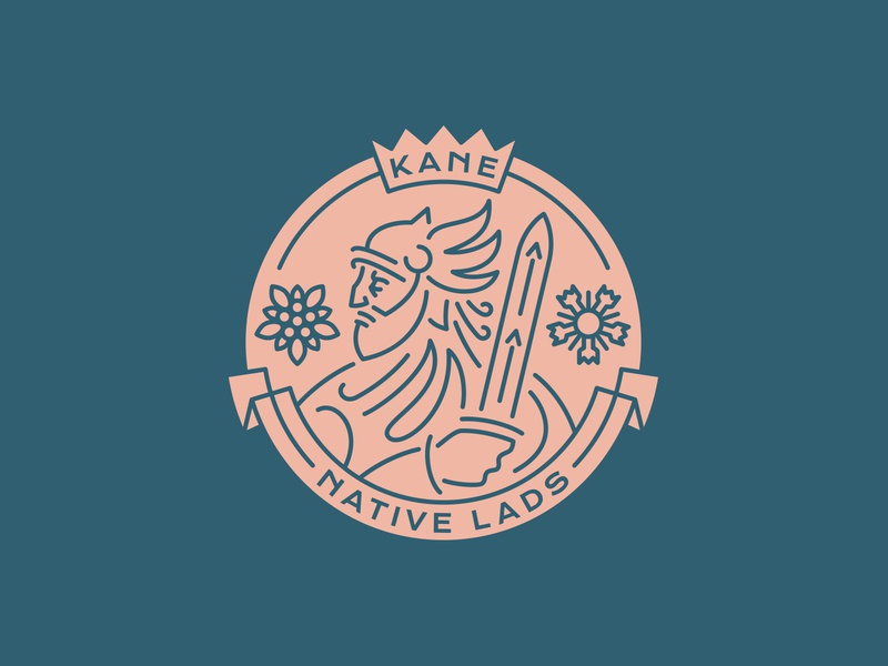 Kane Native Lads dlanid hiwow knight warrior line art lineart branding esports logo sports logo logo design logodesign logotype vintage logo vintage badgedesign badge logo badge logo