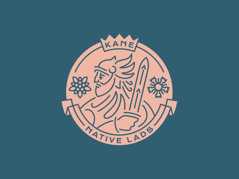 Kane Native Lads dlanid hiwow knight warrior line art lineart branding esports logo sports logo logo design logodesign logotype vintage logo vintage badgedesign badge logo badge logo