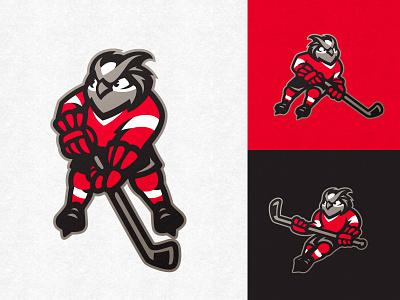 Owl mascot khl nhl illustration vector esports simple minimal sports logo logo bird mark badge sport dlanid identity branding hockey sports design mascot