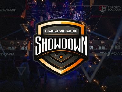DreamHack Showdown logo design badge mark game logo esport logo sports logo challenge tournament csgo game gaming esports sport illustration dlanid logotype mascot identity branding sports logo