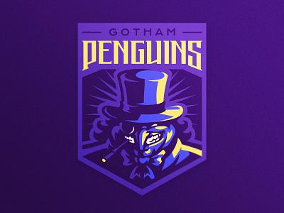 Gotham Penguins gotham batman penguin esports logo sports logo illustration dlanid logotype mascot identity branding sports logo