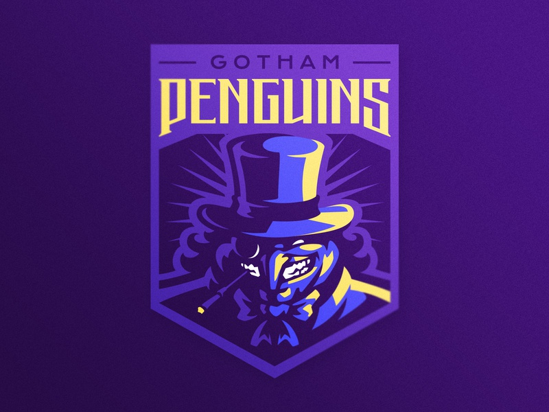 Gotham Penguins gotham batman penguin esports logo sports logo illustration dlanid logotype mascot identity branding sports logo