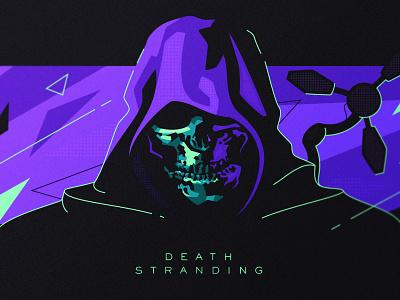 Death Stranding fanart skull death gaming identity branding design dlanid flat modern illustration playstation hideo kojima