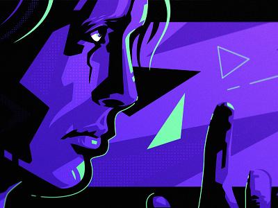 Death Stranding gaming branding playstation fanart pop art art angry man vector design illustration dlanid identity death stranding