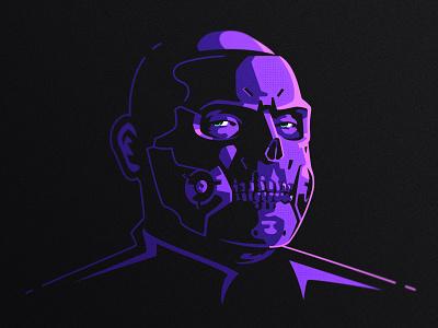 Die Hardman logo skull vector design illustration dlanid gaming game art death stranding logotype identity branding