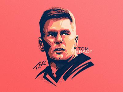 Tom Brady design sport vector football sports illustration portrait sports art dlanid identity branding sports design illustraion nfl tom brady