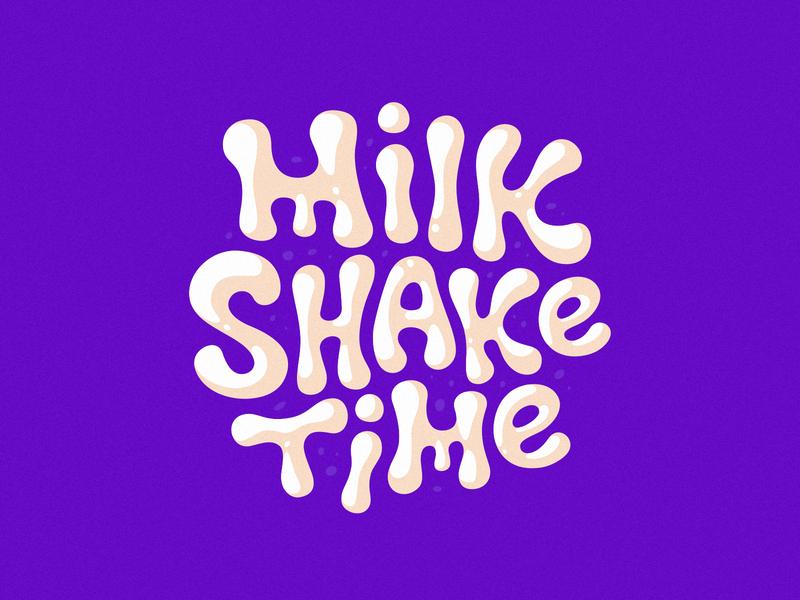 Milkshake time logo icon badge design branding logotype identity lettering milkshake milk logo