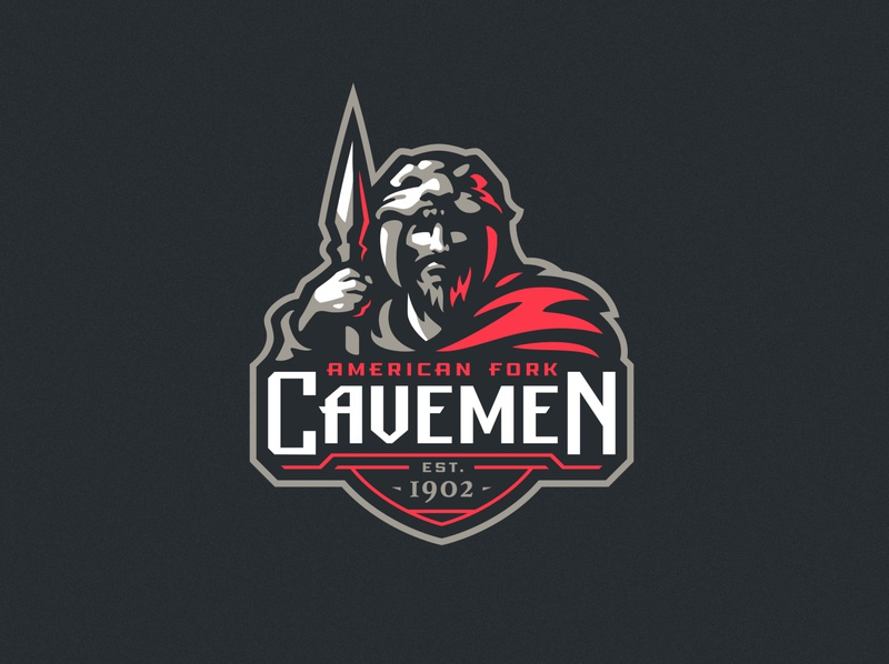 American Fork Cavemen sports sport mascot logotype logo illustration identity icon dlanid cavemen branding