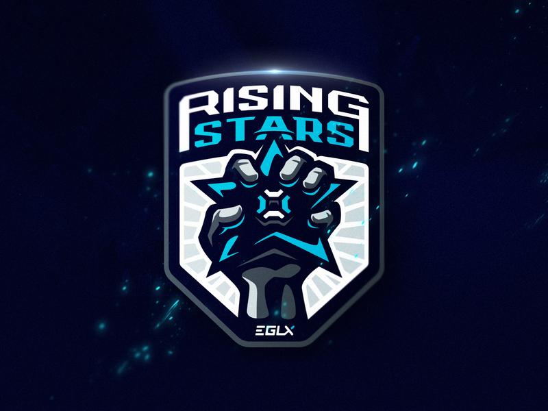 Rising Stars branding dlanid sports icon identity illustration logo logotype mascot sport fist star
