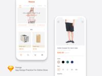 Online Store App Design