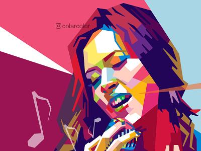 Raisa in WPAP Pop Art portrait drawing indonesian musician music vectorart portrait art wpap colorful art vector illustration portrait illustration vector art singers raisa singer