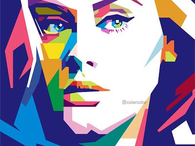 Adele in WPAP Pop Art colorful art pop art portrait portrait vector portrait vectorart vector illustration vector vector art wpap portrait art portrait illustration popart pop art singer adele