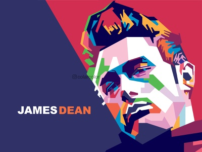 James Dean in WPAP Pop Art pop art portrait wpap portrait art vectorart popart colorful art portrait illustration vector art vector illustration james dean