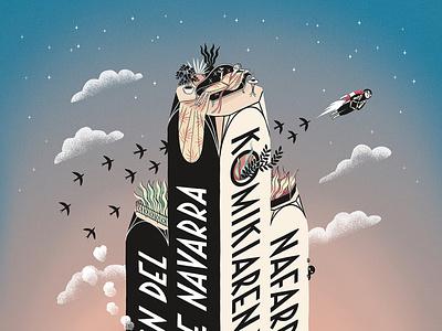 Cartel X Salón de Navarra poster comic illustration