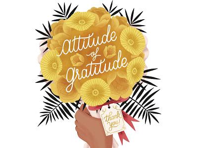 Attitude of Gratitude editorial illustration editorial illustration