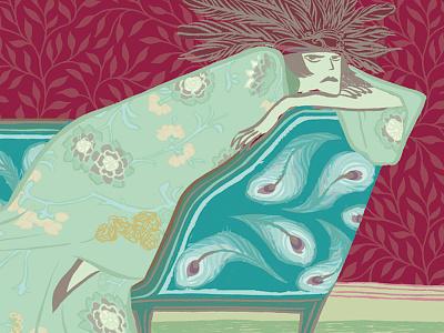 Divas de diván illustration pattern