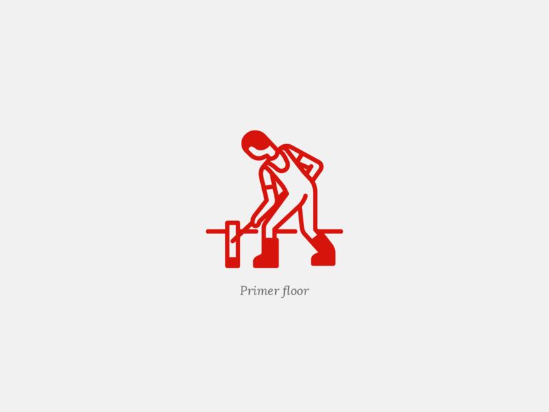 Primer floor worker human man line web ux ui vector iconography icons set icon set iconset icons icon