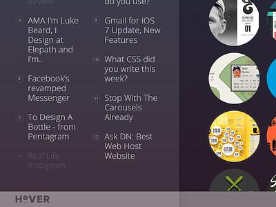 Designer news ui dribbble newsfeed designer news