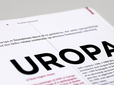 RÆSON. redesign. magazine. europa. red.
