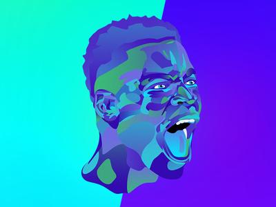 Serge Aurier soccer illustration psg
