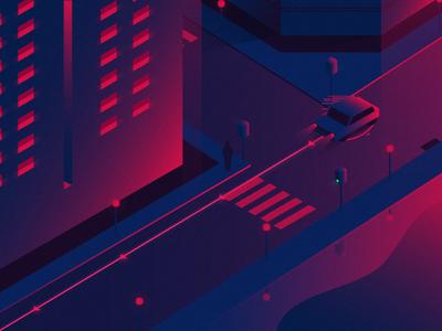 01 Data Exposure building city illustration