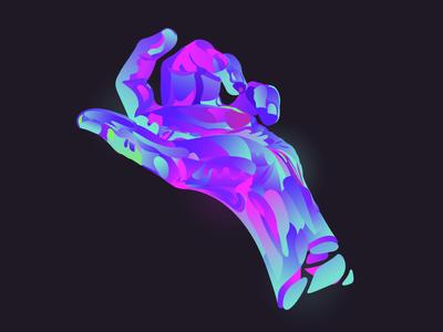 Hand gradient hand illustration