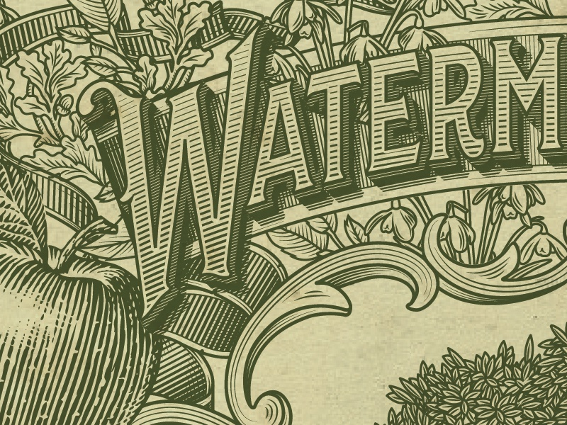 WaterM WIP whisky whiskey etching apple wip work in progress