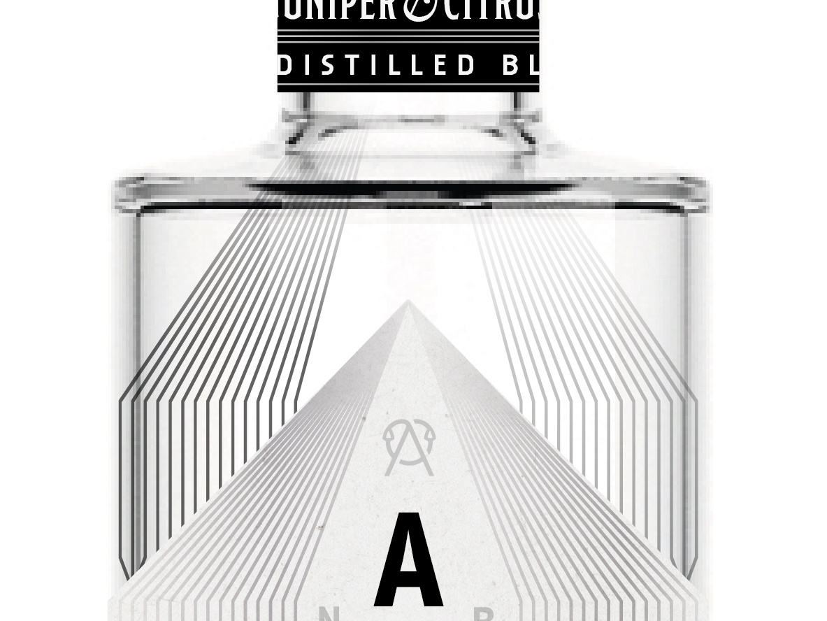 AM Concept wip art logo bourbon spirit branding gin distillery label black and white whiskey print packaging typography packaging design illustration design