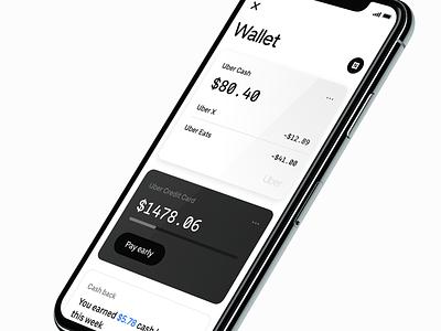 Uber Money wallet cards uber design credit card balance ios bank money uber